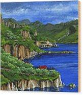 Al Mafi Coast Italy Wood Print