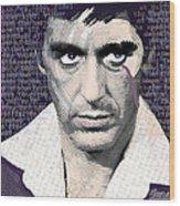 Al Pacino Again Wood Print