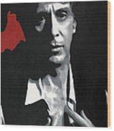 Al Pacino  Wood Print by Luis Ludzska