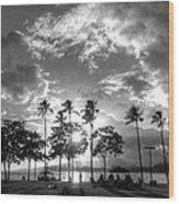 Ala Moana Beach Park Wood Print