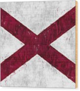 Alabama Flag Wood Print
