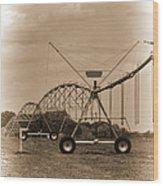 Alabama Irrigation System Vignette Wood Print