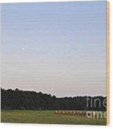 Alabama Moonrise Wood Print