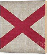 Alabama State Flag Wood Print