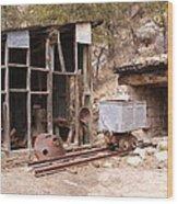 Aladdin Coal Mine Wood Print