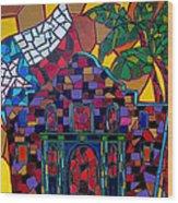 Alamo Mosaic Wood Print