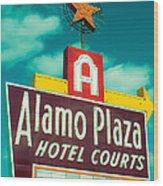 Alamo Plaza Hotel Dallas Wood Print