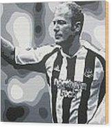 Alan Shearer - Newcastle United Fc Wood Print