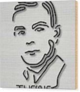 Alan Turing Wood Print