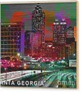 Alanta Georgia Skyline  Wood Print