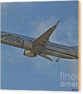 Alaska Air Up And Away Wood Print