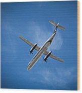 Alaska Airlines Turboprop Wood Print