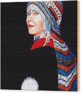 Alaska Alutiiq Woman Wood Print