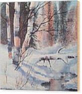Alaska Birch II Wood Print