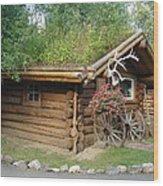 Alaska Building 2 Wood Print