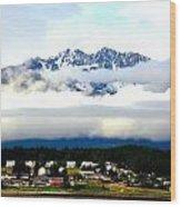 Alaska Coastal Village Wood Print