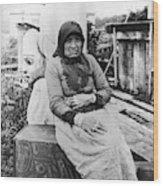 Alaska Eskimo Woman Wood Print