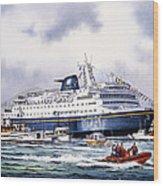 Alaska Ferry Wood Print