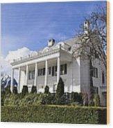 Alaska Governors Mansion Wood Print