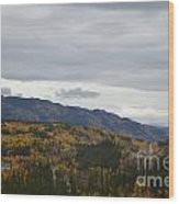 Alaska Highway At Lewes River Bridge  Wood Print