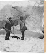 Alaska Hunters Wood Print