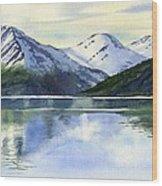 Alaska Mountain Reflections Wood Print