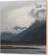 Alaska Mountainscape Wood Print