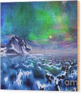 Alaska Northern Lights  Wood Print