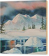 Alaska Panorama Wood Print by Teresa Ascone