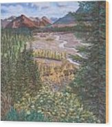 Alaska Range   Early Fall Wood Print