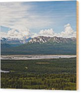 Alaska Range Wood Print by Chris Heitstuman
