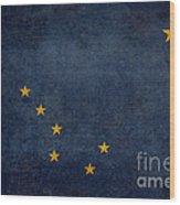 Alaska State Flag Wood Print