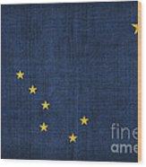Alaska State Flag Wood Print by Pixel Chimp