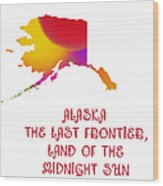 Alaska State Map Collection 2 Wood Print