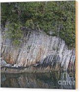 Alaskan Cliff Wood Print
