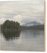Alaskan Island Reflection Wood Print