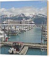 Alaskan Marina Wood Print