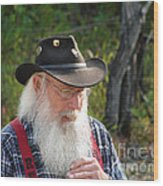 Alaskan Miner Wood Print