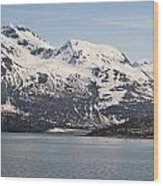 Alaskan Mountain Seaside Wood Print
