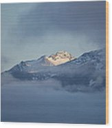 Alaskan Mountains Wood Print