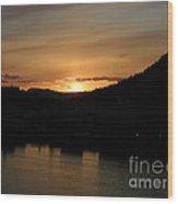 Alaskan Sunset Wood Print