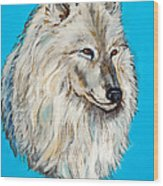 Alaskan White Wolf Original Forsale Wood Print