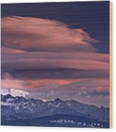 Alayos Mountains At Sunset In Sierra Nevada Wood Print