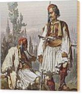 Albanians, 1865 Wood Print