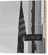 Albany Street In Black And White Wood Print