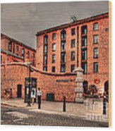 Albert Dock A Different View Wood Print