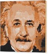 Albert Einstein 01 Wood Print