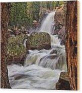 Alberta Falls II Wood Print