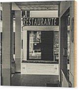 Albufeira Street Series - Restaurante Wood Print