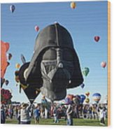 Albuquerque International Balloon Fiesta With Darth Wood Print